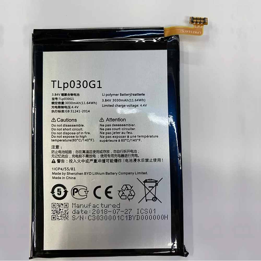 TCL TLP030G1 交換バッテリー
